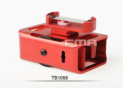New Red IPSC 360 Degrees Rotate Aluminum Magazine Pouch For CNC Airsoft Pistol