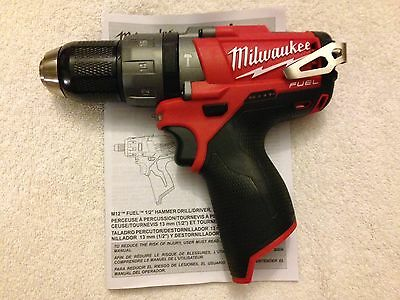 "New Milwaukee Fuel M12 2404-20 12V Li-ion 1/2"" Brushless Hammer Drill Driver"