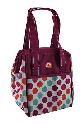 Igloo 9 Can Capacity Pink Polka Dot Soft Sided Lunch & Leftover Cooler Tote Bag