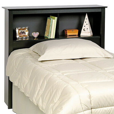 Sonoma Headboard for Twin Bed - Black finish - Two 11 inch deep storage spaces