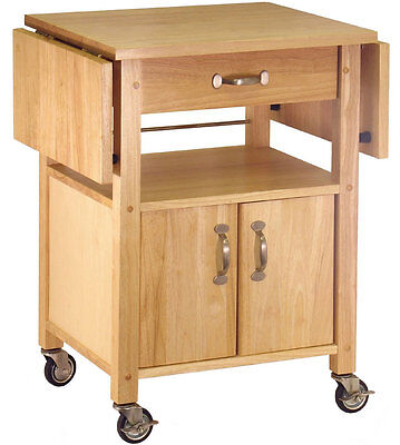 Mobile Wood Kitchen Island Cart With Drawer from Catskill