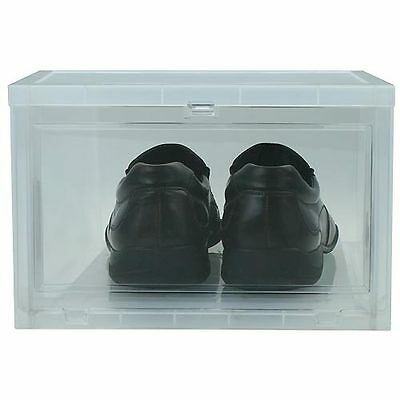 Large Drop-Front Shoe Box for Mens Footwear Clothing Organizers