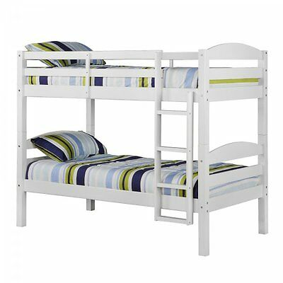 Twin Size Kids Bunk Bed - White