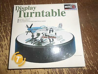 """MRC Model Rectifier Mirror Display 7"""" Rotating Turntable New in Box"""