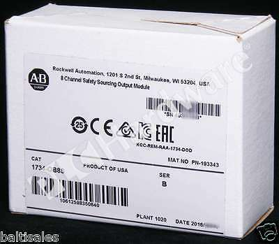 New Sealed Allen Bradley 1734-OB8S /B Pkg 2016 POINT Safety Sourcing Output Qty