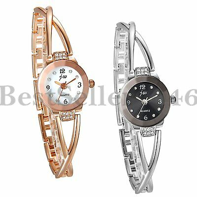 New Fashion Women Ladies Bracelet Rhinestone Dial Analog Quartz Wrist Watch Gift