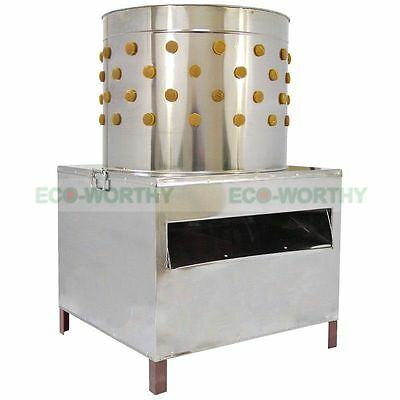 ECO Chicken Plucker Machine Plucking Feathers Poultry Birds 50cm Stainless Steel