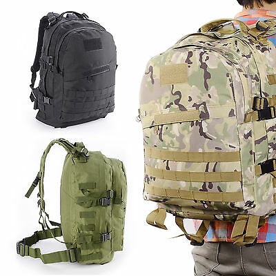 40L MultiFunction 3D Army Military Tactical Rucksack Backpack Camping Hiking Bag