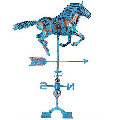 Copper PATINA Horse Weathervane FULL BODY with Free Roof Mounting Handicrafts