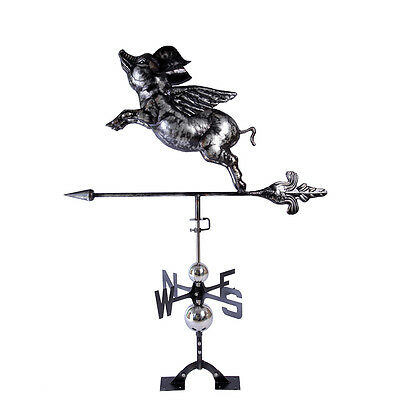 3D Good Directions FLYING PIG Weathervane Montague Metal Product Steel