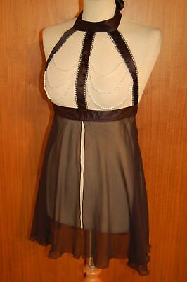 Naughty Janet Babydoll Gr. 75 champagne Reine Seide 6032