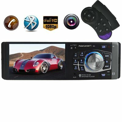 Bluetooth MP3 MP5 Player 1 Din FM Stereo AUX Radio 4.1 inch Handsfree Car Camera