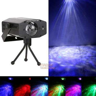 LED Stage Light Water Wave Effect Projector Remote Party DJ Club Bar Lighting UK
