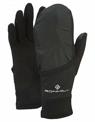 Ronhill Additions Convertible Regulite Towelling Runners Outdoor Gloves - Black