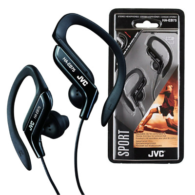 Jvc In Ear Sweat Resistant Fitness Sports Headphones Earphones - Black - Haeb75B