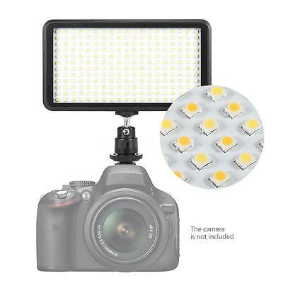228 LED Video Light Lamp Panel Dimmable 20W 2000LM for Camera DV Camcorders K7I6