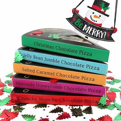 Gourmet Chocolate Pizza Company Belgian Milk Choc Present Slice Flavour Gift