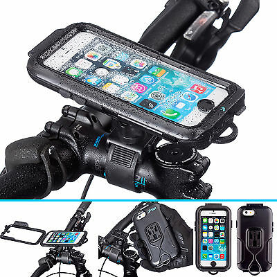 Ultimateaddons Bike Strap Lock Mount + Water Resistant Case for iPhone 6 6s 4.7