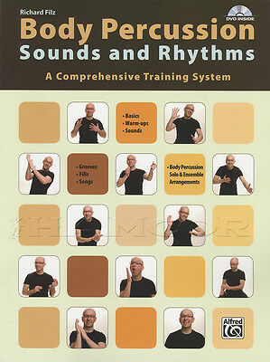 Body Percussion Sounds and Rhythms Sheet Music Book/DVD Training System