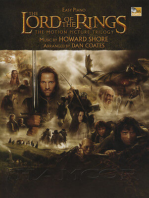The Lord Of The Rings Motion Picture Trilogy Easy Piano Sheet Music Book