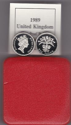 1989 Boxed Piedfort Proof £1 Scotland Thistle