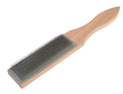 """FAITHFULL FILE CARD STEEL WIRE BRUSH FOR FILES - 125mm x 40mm (5"""" x 1.1/2"""")"""
