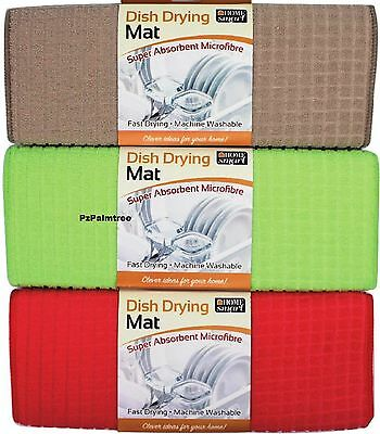 Microfibre Dish Drying Mat 16x19inches Sink Drainer Washing Up Tea Towel