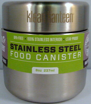 Klean Kanteen Food Canister  8oz  Brushed Stainless