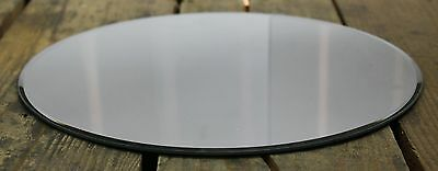 Round Glass Mirror Candle Plate Stand 30Cm