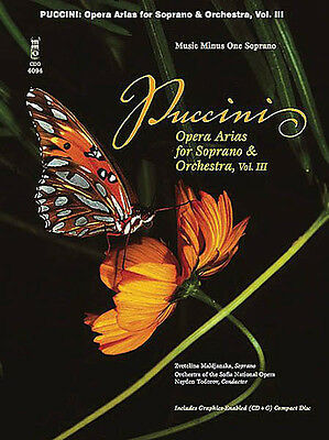 Puccini Opera Arias for Soprano Vol III Vocal Sheet Music Minus One Book CD NEW