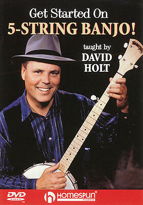 Get Started 5-String Banjo Beginner Lessons Learn to Play Homespun Video DVD NEW