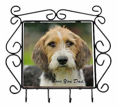 Fox Hound 'Love You Dad' Wrought Iron Key Holder Hooks Christmas Gift, DAD-30KH