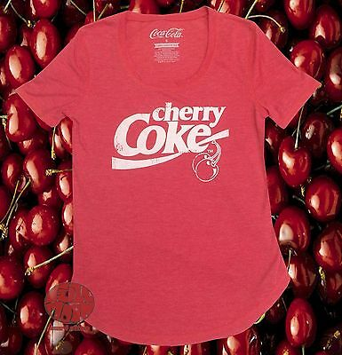 New Cherry Coca Cola Enjoy Junior Short-Sleeve Scoop Tunic Retro T-Shirt