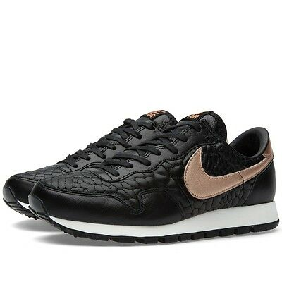 2015NIKE WOMENS Pegasus '83 PRM QLT Black/Rose Gold 807395-001 Quilted Leather
