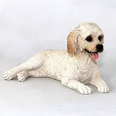 Labradoodle Cream Dog Hand Painted Canine Collectable Figurine Statue