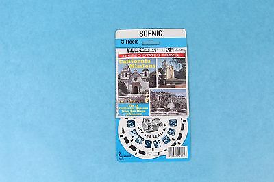 Vintage View-Master 3D Reel Packet K93 Scenic California Missions Mint/sealed