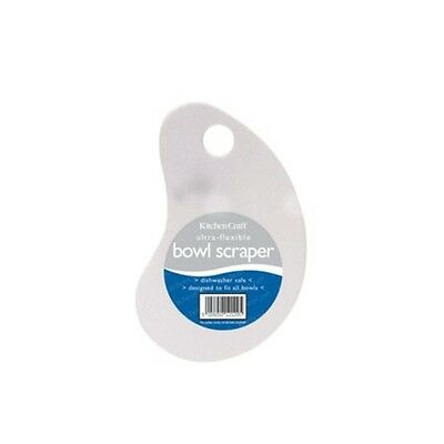 Flexible Plastic Bowl Scraper - Handheld Use With Any