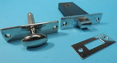 single VINTAGE RUSSWIN CHROME MORTISED CABINET LOCK   XLNT