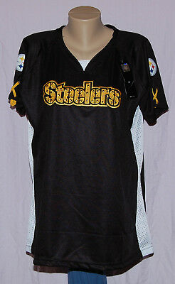 da7a0867070 PITTSBURGH STEELERS WOMENS Shimmer Jersey T-Shirt Plus Size M - NFL ...