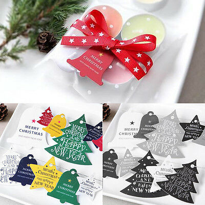 14x Christmas Letter Hang Tag Paper Room Ornament Card Festival Wedding Gift Box