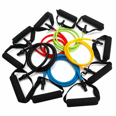 Set of 5 Resistance Loop Bands Yoga Crossfit Fitness Pilates Exercise Workout