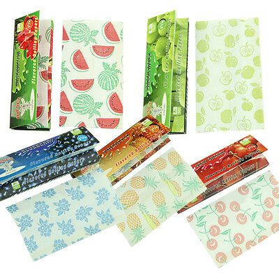 5 Fruit Flavored Smoking Cigarette Hemp Tobacco Rolling Papers 250 Leaves Set F9