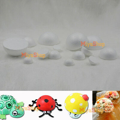 New Polystyrene Styrofoam Foam Ball Hemisphere DIY Accessory Handmade Party