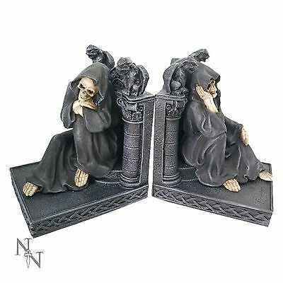 GRIM REAPER  BOOKENDS  27.5CM. gothic fantasy nemesis now