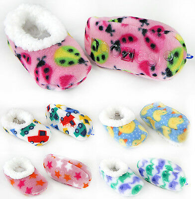 Thick Baby Slippers - Boy / Girl Non Slip Baby Sherpa Slipper Socks 0-3 Months