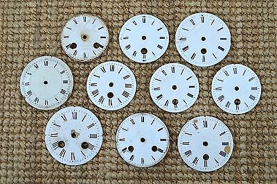 10 assorted antique enamel clock dials decorative clock face CD1