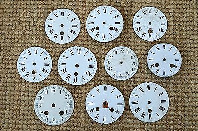 10 assorted antique enamel clock dials decorative clock face CD2 • £72.99