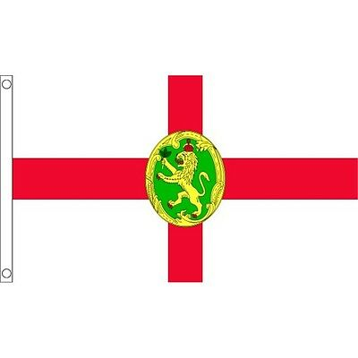 3ft x 2ft Small Alderney Flag - 3ft Metal Eyelets