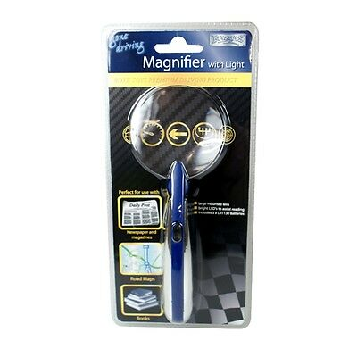 Magnifier With Bright Light - Lighted Magnifying Glass Handheld Reading