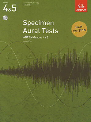 Specimen Aural Tests from 2011 Grades 4-5 Sheet Music Book with 2CDs ABRSM